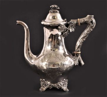 Кофейник серебро